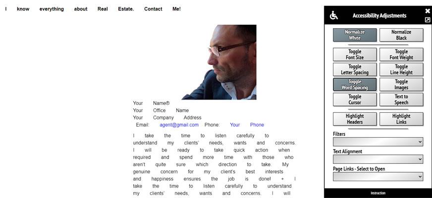 Toggle Word Spacing Mode